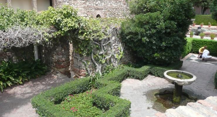 Alcazaba, Málaga - Gärten