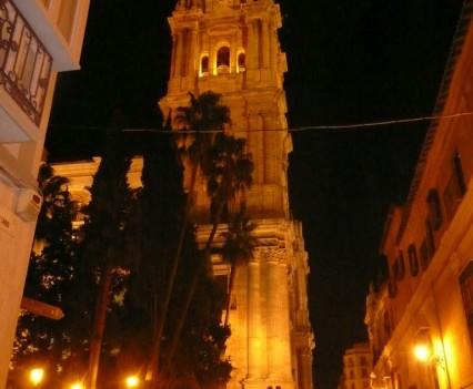 Kathedrale, Málaga - Turm Nachtaufnahme