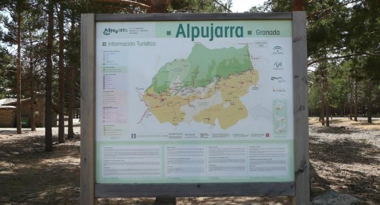 Alpujarra, Granada - Wanderstation Wegkarte