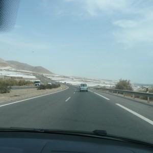 Zeltplanen von Adra bis Almería, Spanien