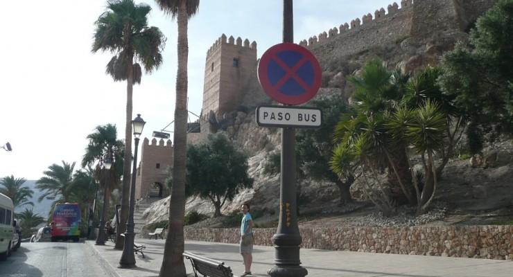 Alcazaba Almería - Straßenansicht