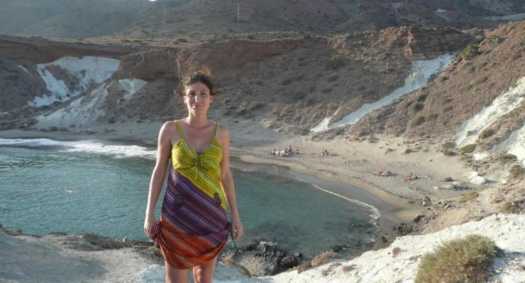 Parque Natural Cabo de Gata, Spanien - Strandbucht Cala Rajá Abstieg