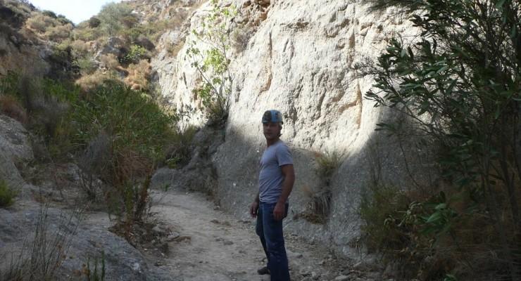 Cuevas de Sorbas, Spanien - Weg zur Höhle