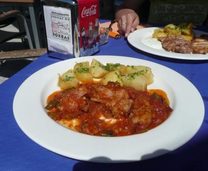 Restaurante Cuevas de Sorbas, Spanien - Mittagessen