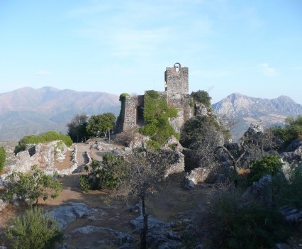 Gaucín, Spanien - Castilla de Aguila Innenhof Ruinen