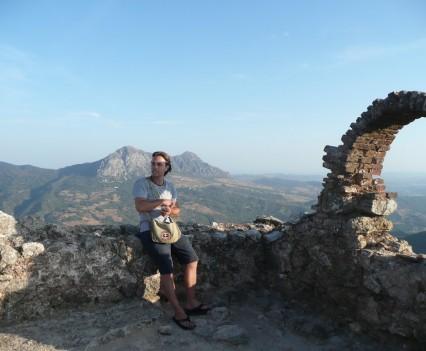 Gaucín, Spanien - Castilla de Aguila Ausblick in die Berg